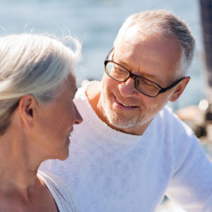 Retired couple actively aging